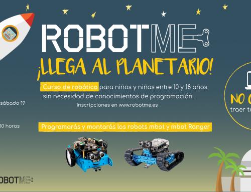 Ya puedes inscribirte a los talleres de mBot que impartimos en Planetari de Castellón en mayo